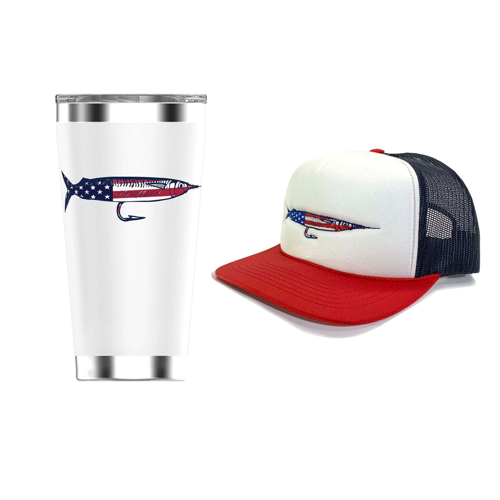 American Rigged Hat & Rigged Tumbler 20oz