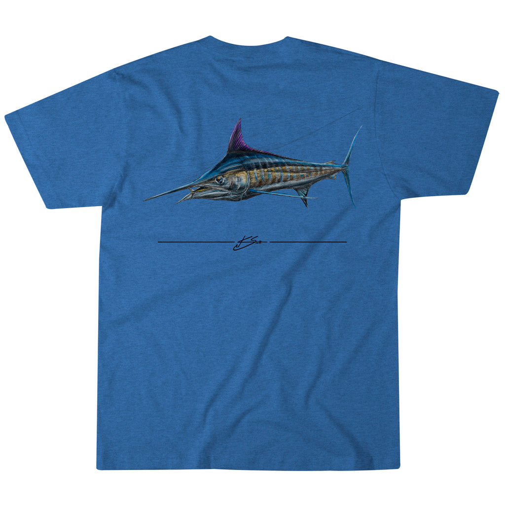 Marlin Sketch Tee - Royal