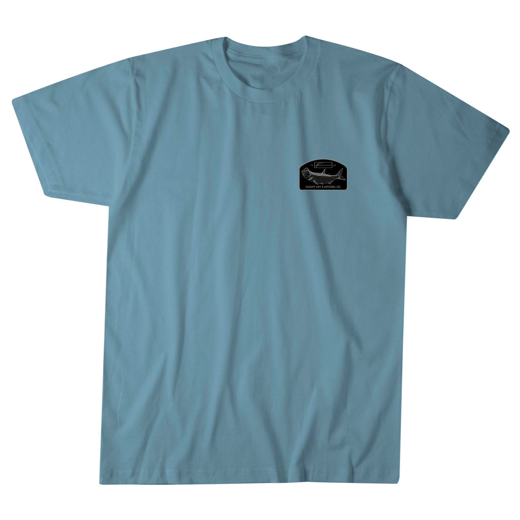 Poon Chaser Tee - Steel Blue