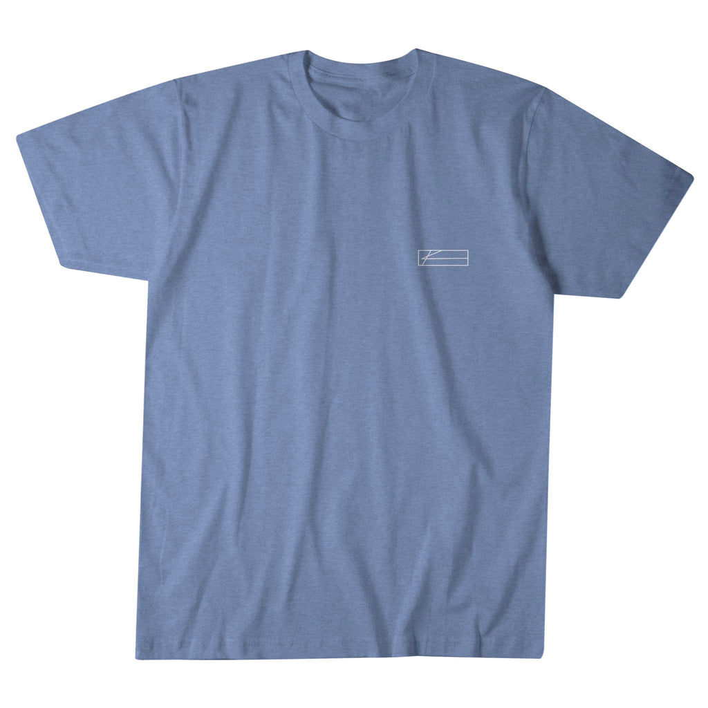 Rising Sail Tee - Heather Columbia Blue