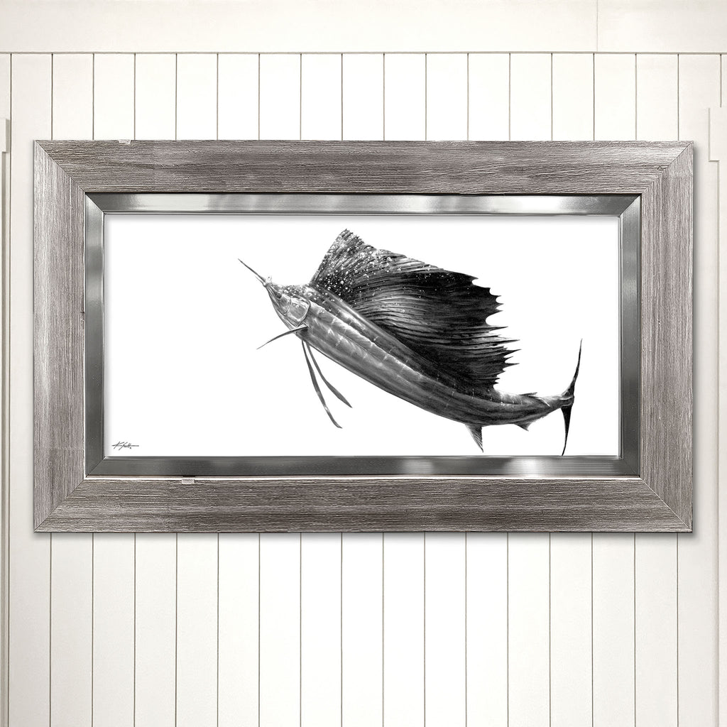 Rising Sailfish Giclee Coastal Wall Art