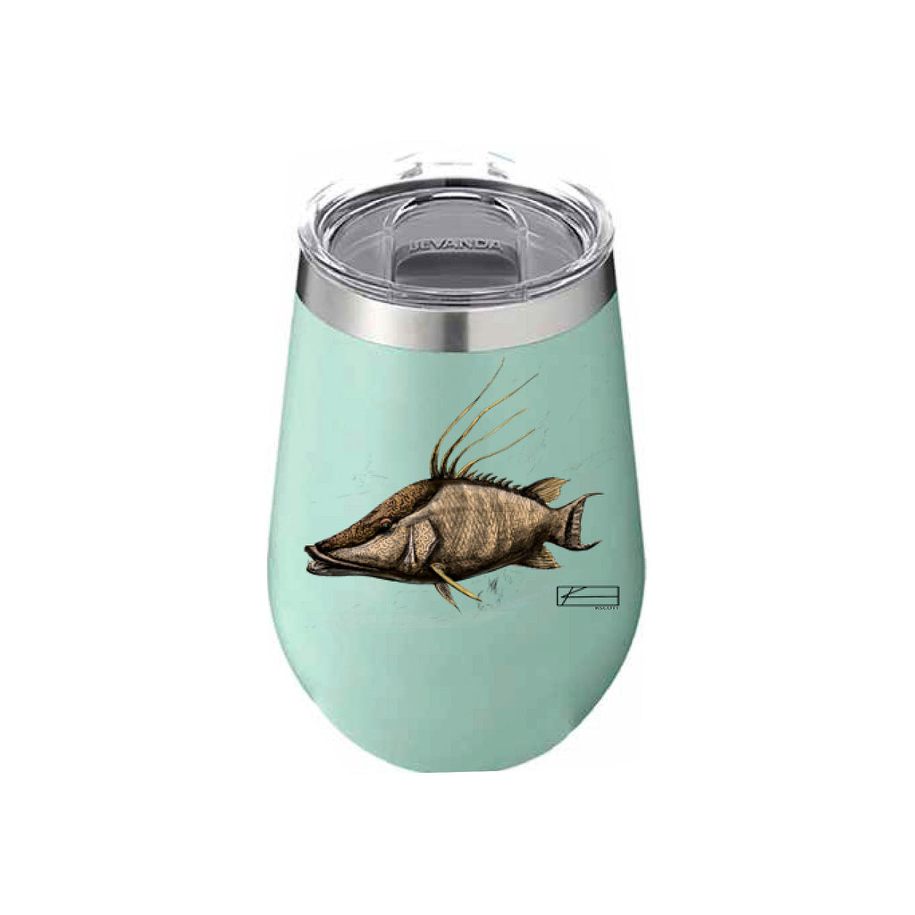 Hog Sketch Wine Tumbler 12oz