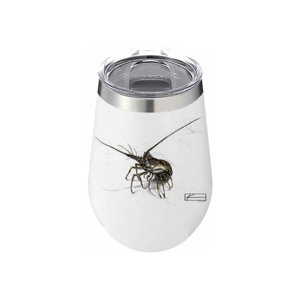 Lobster Sketch Wine Tumbler 12oz