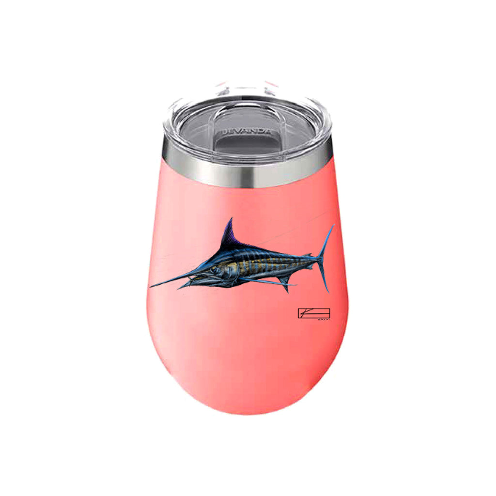 Marlin Sketch Wine Tumbler 12oz