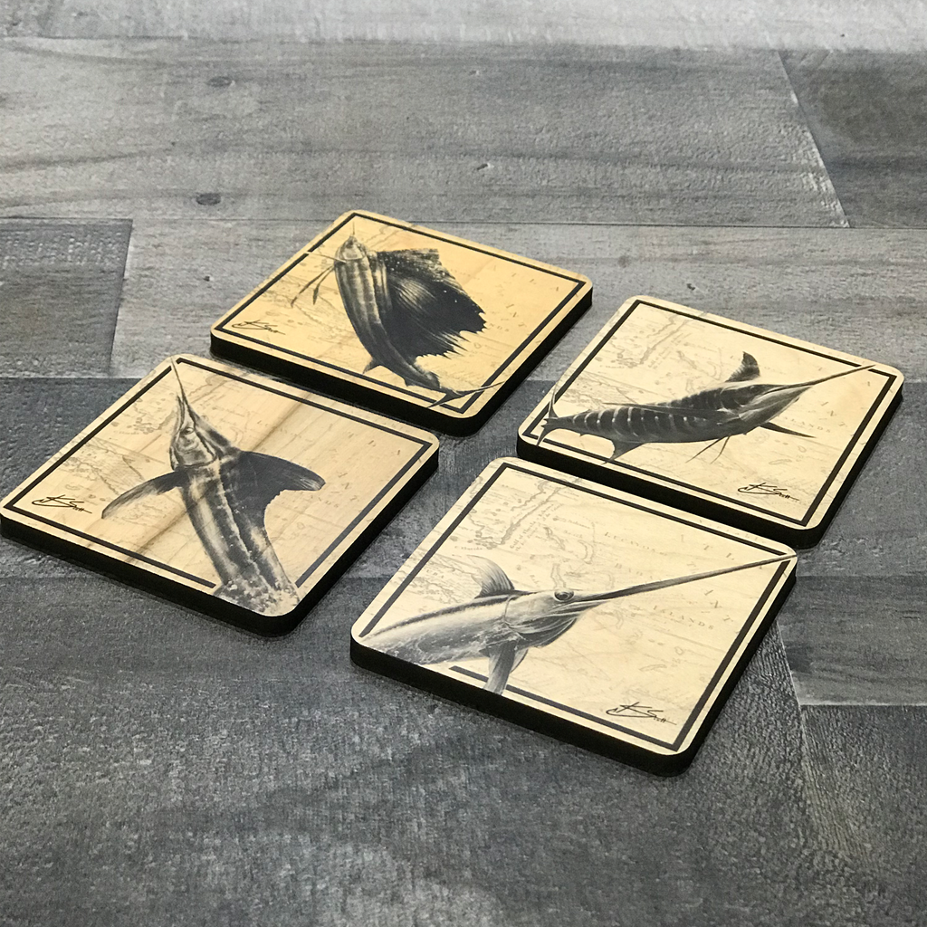 Billfish Slam Coaster Set