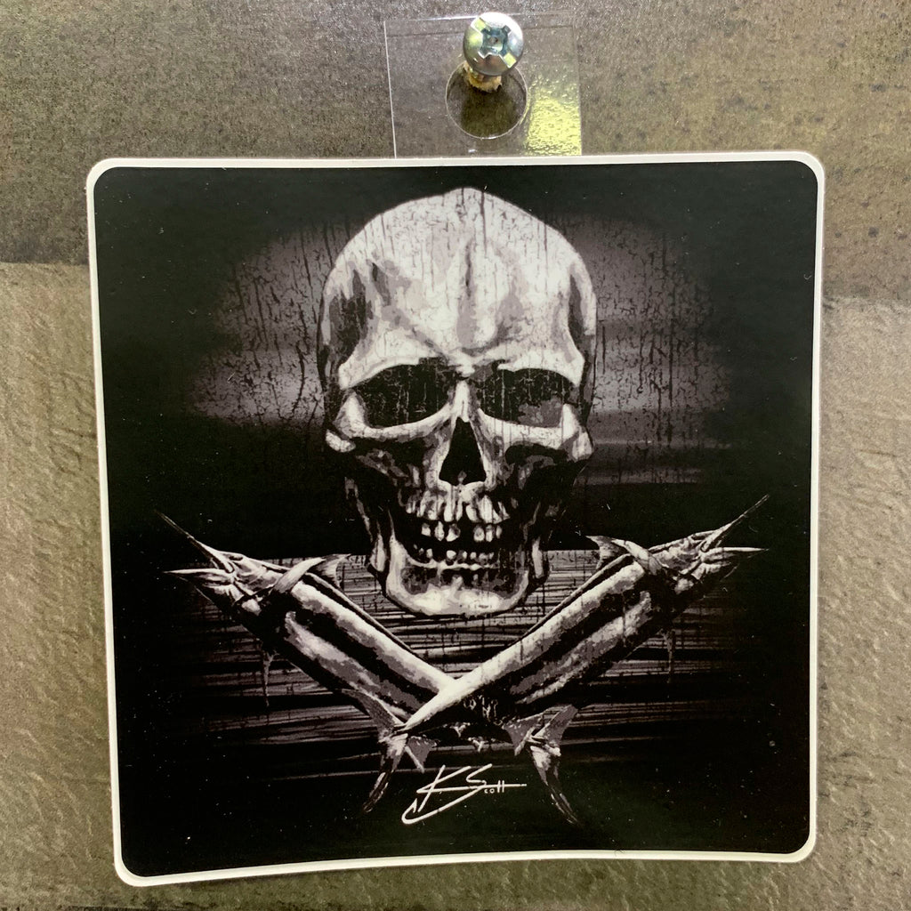 Skull Marlin Sticker