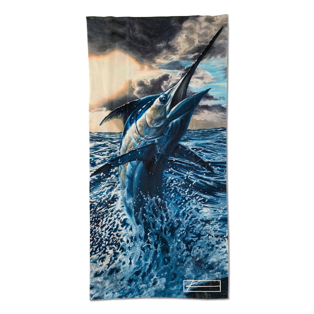 Blue Storm Beach Towel