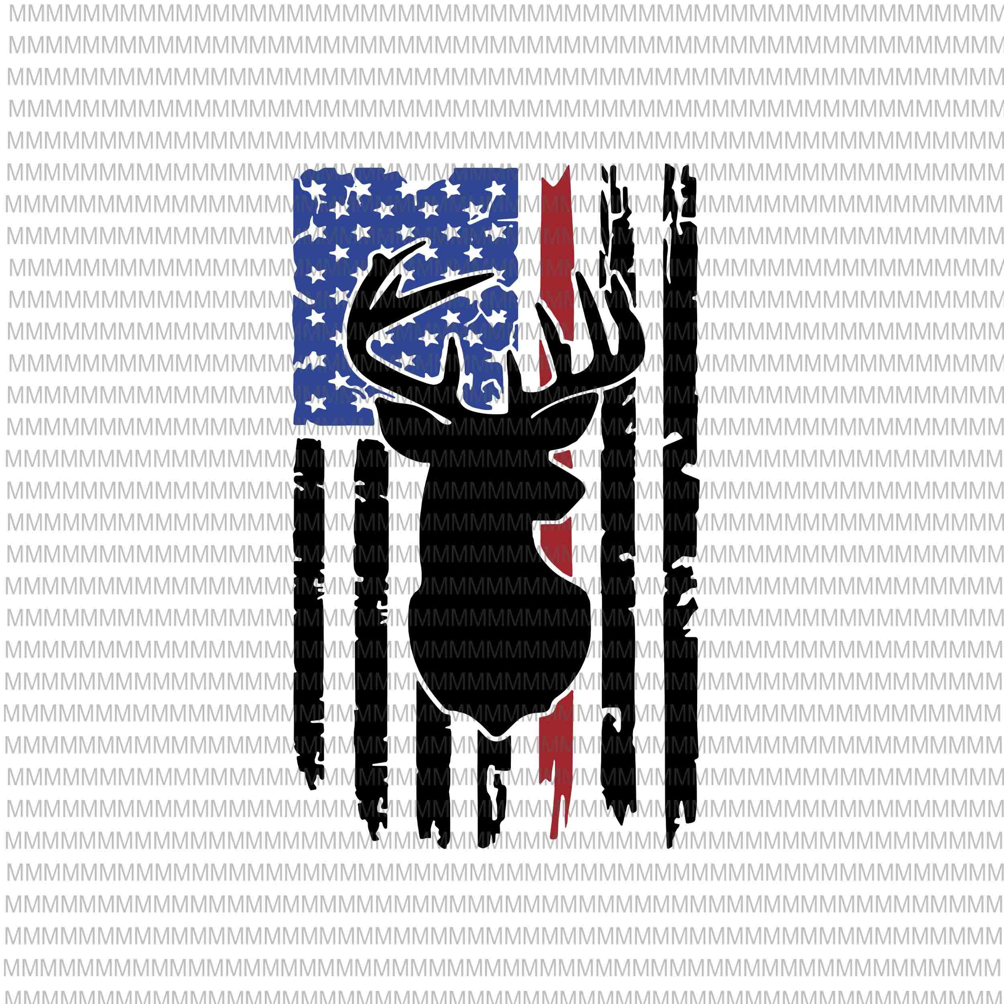 Deer hunt flag svg, 4th of July svg, Deer distressed flag svg, deer flag svg, deer svg, deer American flag svg, hunting deer svg