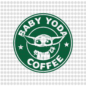 Baby yoda coffee, Baby yoda svg, baby yoda vector, baby yoda digital file, star wars svg, star wars vector, The Mandalorian the child svg