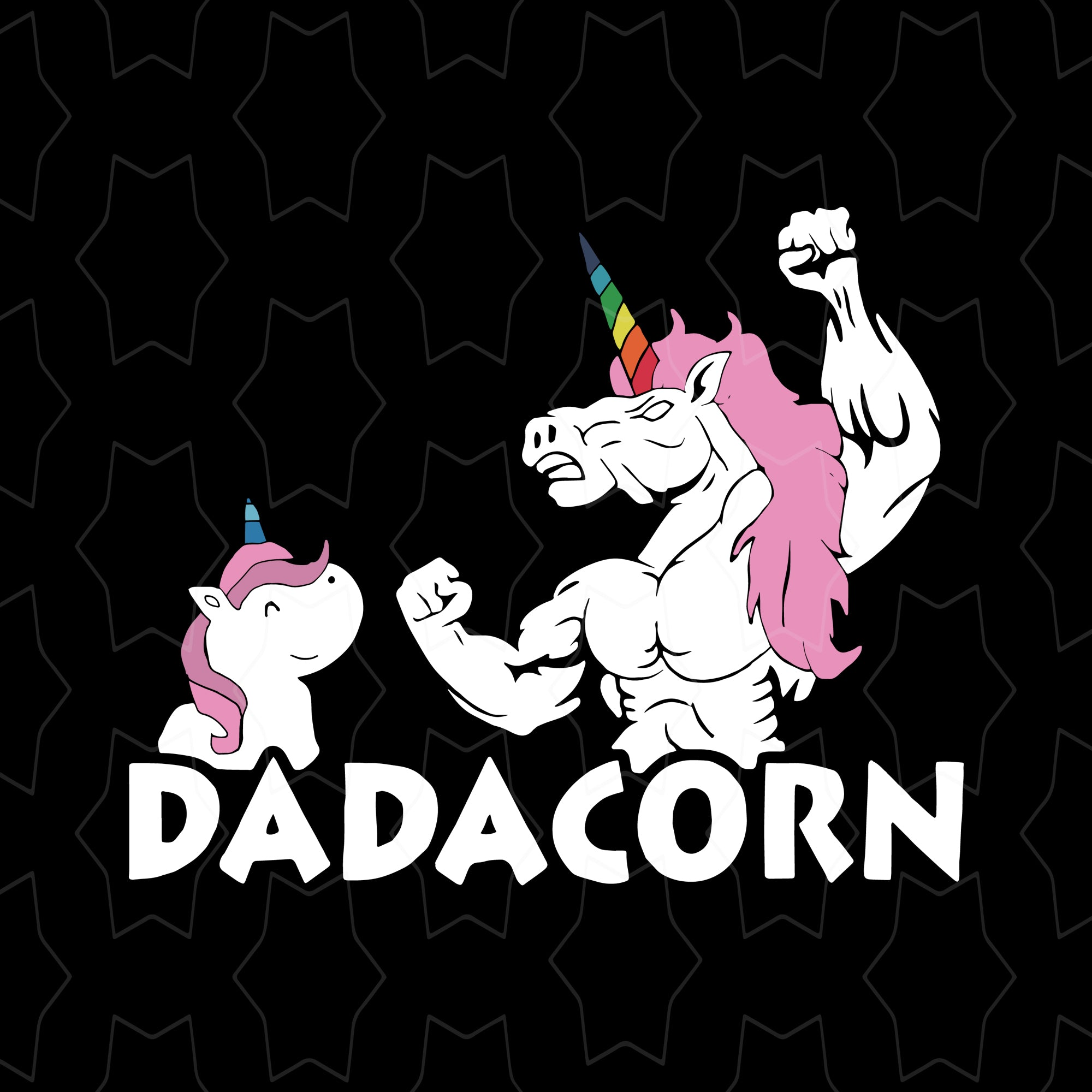 Dadacorn svg, dadacorn unicorn svg, daddy unicorn svg, unicorn dad svg, father's day svg, father day svg, dad svg, png, eps, dxf