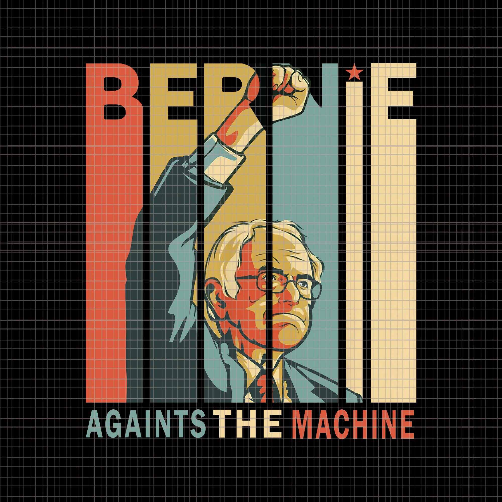 Bernie against the machine png, bernie against the machine, bernie sanders against the machine bernie 2020 vintage retro png, bernie sanders against the machine bernie 2020 vintage retro