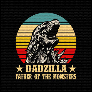 Dadzilla father of the monsters, Dadzilla vector, Dadzilla png, Godzilla, Father's Day vector, png, svg, dxf, eps, ai file