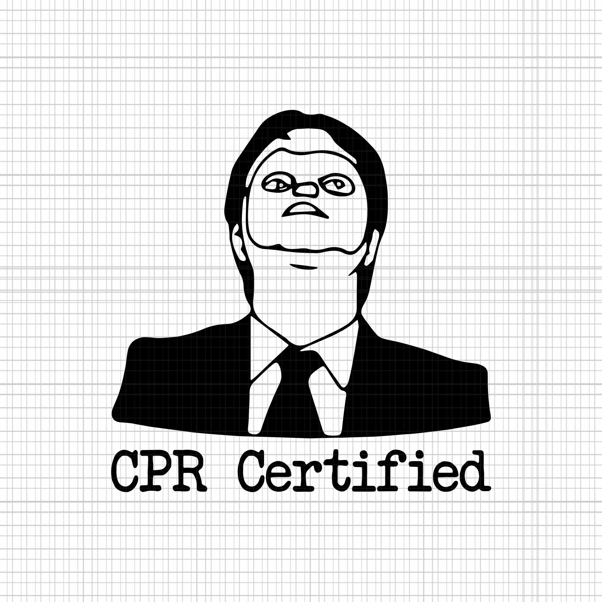Cpr certified svg,cpr certified png,cpr certified,dwight cpr certified dwight dummy mask svg, eps, dxf, png
