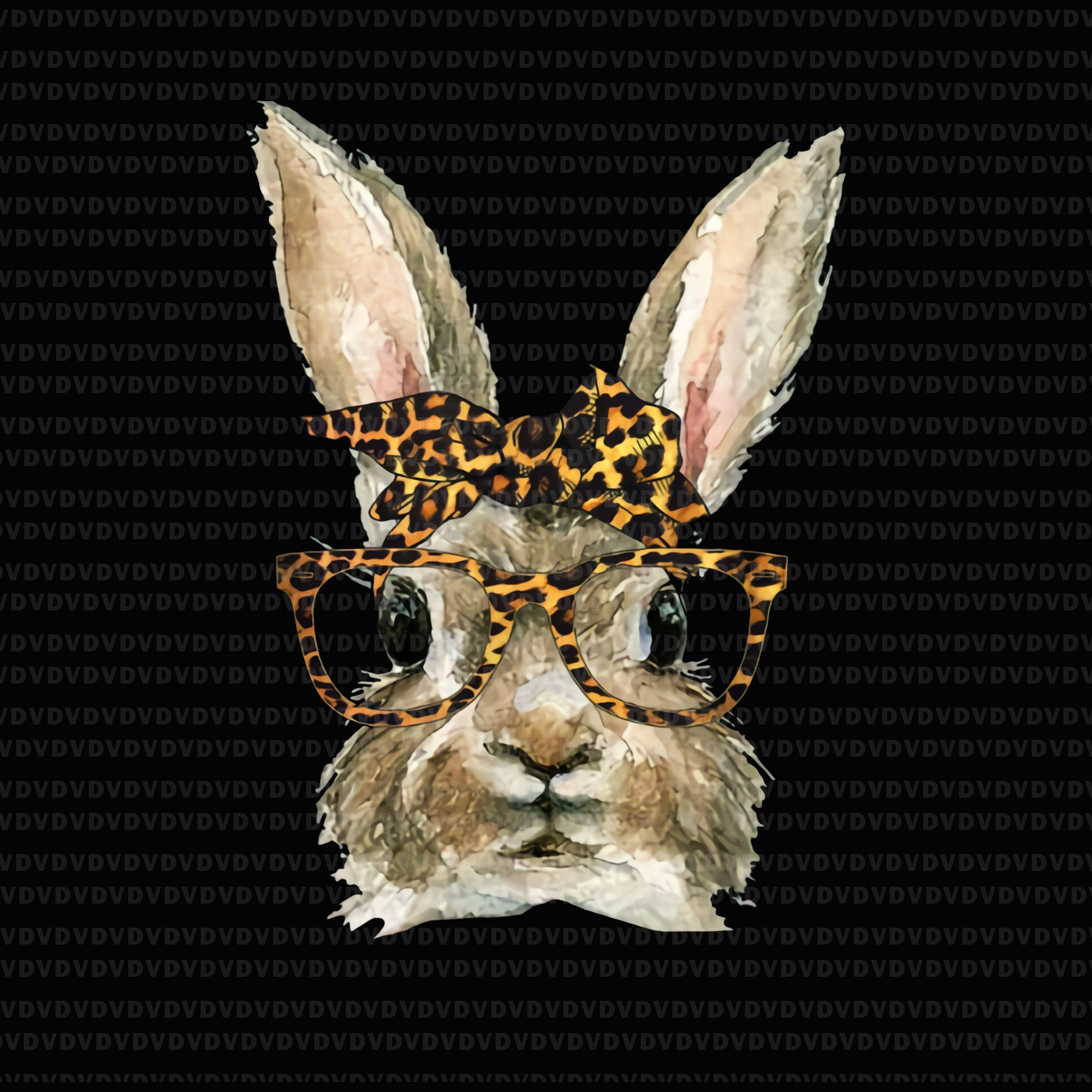 Bunny rabbit png, bunny rabbit vector, bunny rabbit glasses leopard print bow funny hipster easter png, bunny rabbit