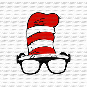 Hat dr seuss svg, hat dr seuss, dr seuss svg,dr seuss vector, dr seuss quote, dr seuss design, Cat in the hat svg, thing 1 thing 2 thing 3, svg, png, dxf, eps file