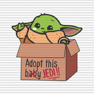 Adopt this baby jedi, Baby yoda svg, baby yoda vector, baby yoda digital file, star wars svg, star wars vector, The Mandalorian the child svg