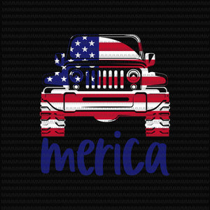 4th of July jeep svg, jeep svg, Fourth of July SVG, merica jeep svg, jeep 4th of July Svg, Patriotic SVG, America Svg, Cricut, Silhouette Cut File, svg dxf eps
