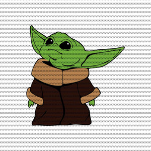 Baby yoda svg, baby yoda vector, baby yoda digital file, star wars svg, star wars vector, The Mandalorian the child svg