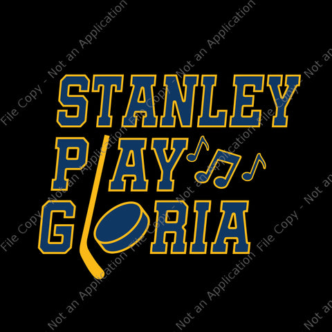 Play Gloria, Play Gloria Svg, St Louis Hockey Svg, Blues Gloria Svg, Blues Gloria svg, png, dxf,eps file for Cricut, Silhouette