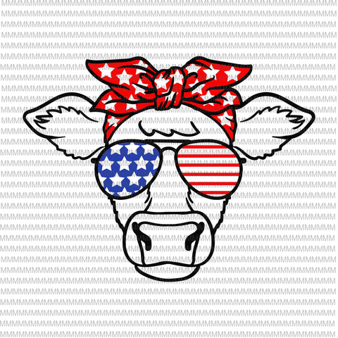 4th of July svg, cow svg, Independence Day svg, American flag svg, patriotic, 4th of July vector, cow 4th of July design, funny 4th of July, Svg Files for Cricut, cut file buy t shirt design artwork