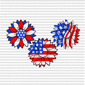 4th of July svg, Sunflower svg, Independence Day svg, American flag svg, patriotic, Svg Files for Cricut, cut file, dxf files for laser, png