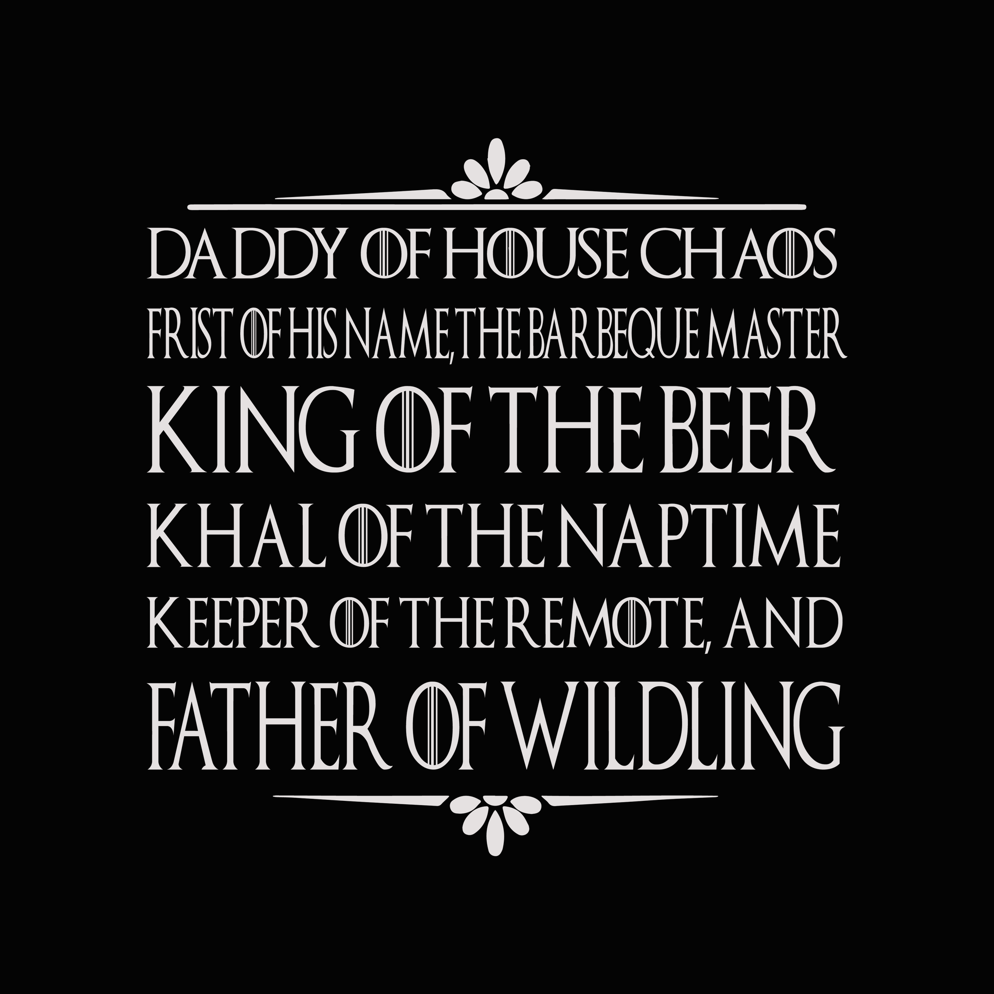 Free Choose from hundreds of templates, add photos and your own message. Daddy Of House Chaos Svg Father Of Wilding Svg Father S Day Svg Fat Buydesigntshirt SVG, PNG, EPS, DXF File