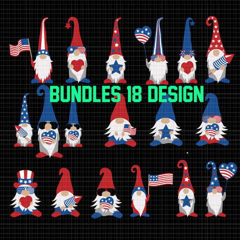Bundles 18 design, three gnomes 4th of July, Gnomes USA, Patriotic gnomes svg, Patriotic gnomes, gnomes 4th of july svg,  three gnomes svg, 4th of july svg, independence day svg, american flag svg