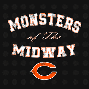 Monsters of the midway svg, Chicago Bears SVG,Chicago Bears Files,Chicago Bears Football SVG,Bears Printables, NFL Football svg,png, dxf,eps file for Cricut, Silhouette