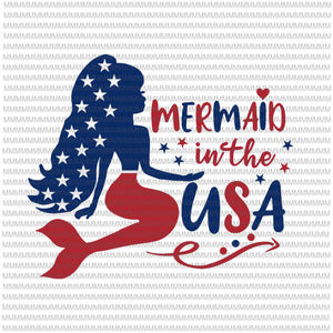 4th of july, mermaid in the usa svg, Mermaid In The USA Svg, 4th of July Mermaid Svg, Patriotic Mermaid Svg, Independence Svg