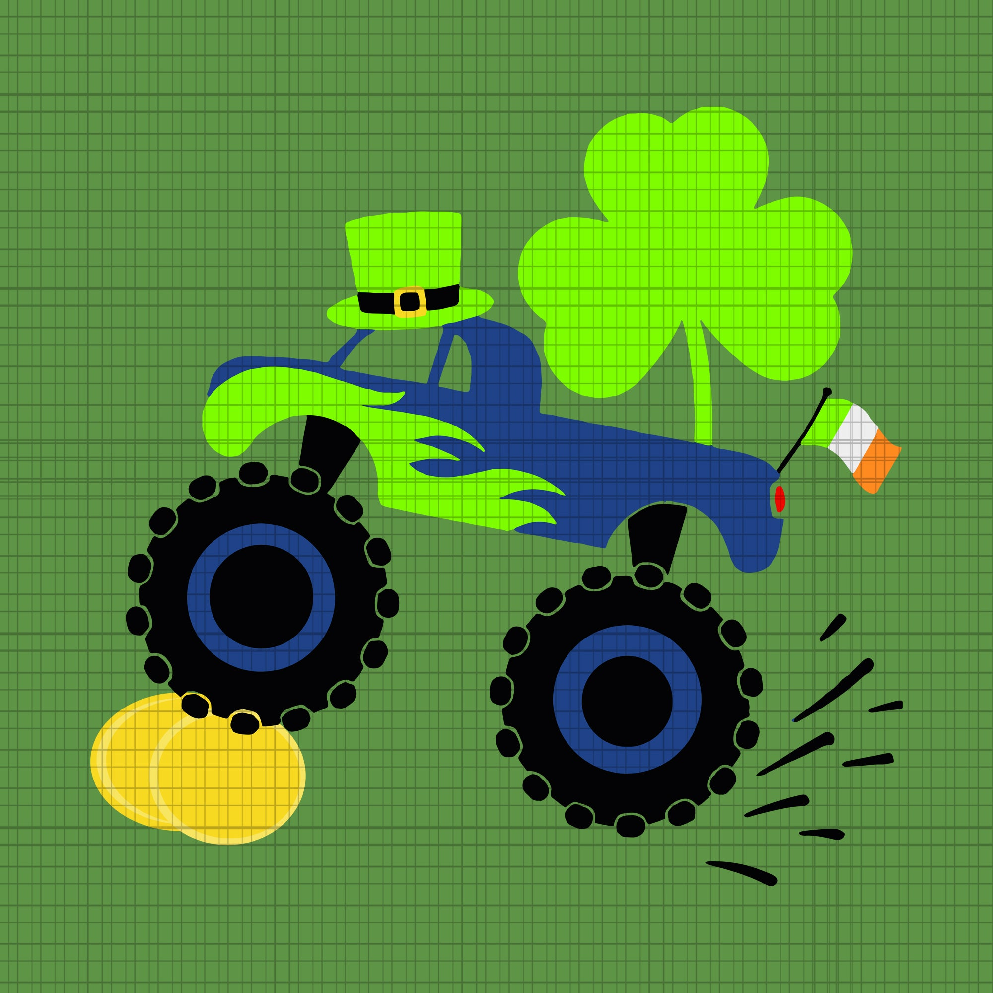 Kids saint patricks day gift for monster truck lover boy shamrock svg, truck patricks day svg, st patrick day svg, patrick day svg, truck svg