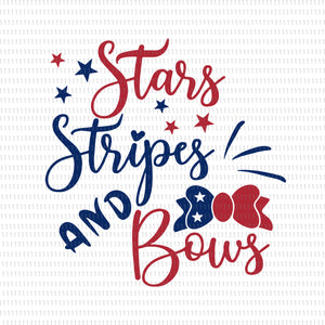Start stripes and bows svg, Start stripes and bows, Start stripes and bows png, Start stripes and bows 4th of July svg, Start stripes and bows 4th of July, 4th of July svg, 4th of July, Fourth Of July Svg, Independence Day