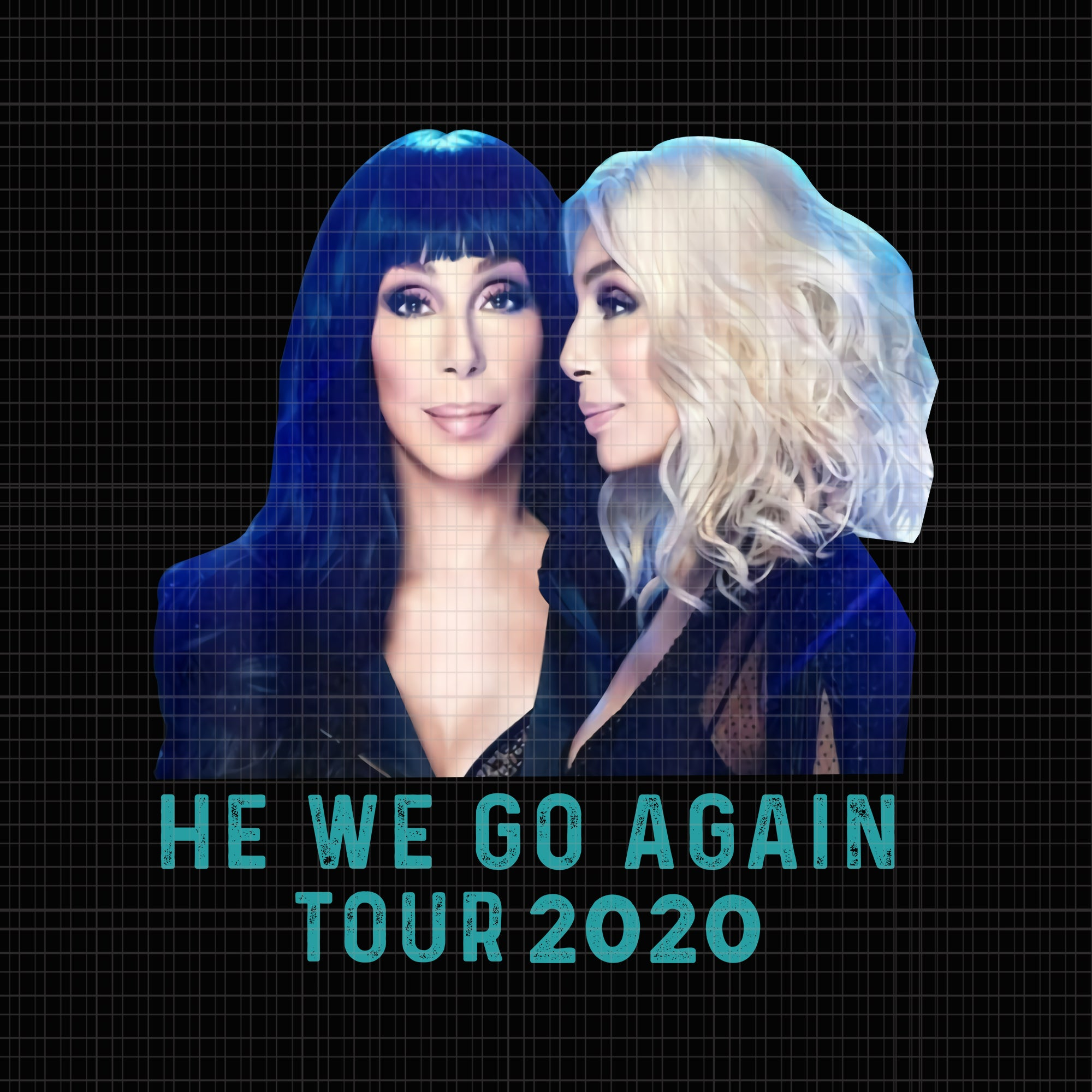 Retro Chers Love Country Music Funny Tour 2020 png, Retro Chers Love Country Music Funny Tour 2020, he we go again tour 2020