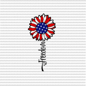 Freedom Sunflower Svg, July 4th Svg, Freedom Svg, Sunflower flag usa svg, Stars and Stripes Svg, Merica Svg, Cricut, Cut File, SVG, Independence Day, Patriotic, America Svg