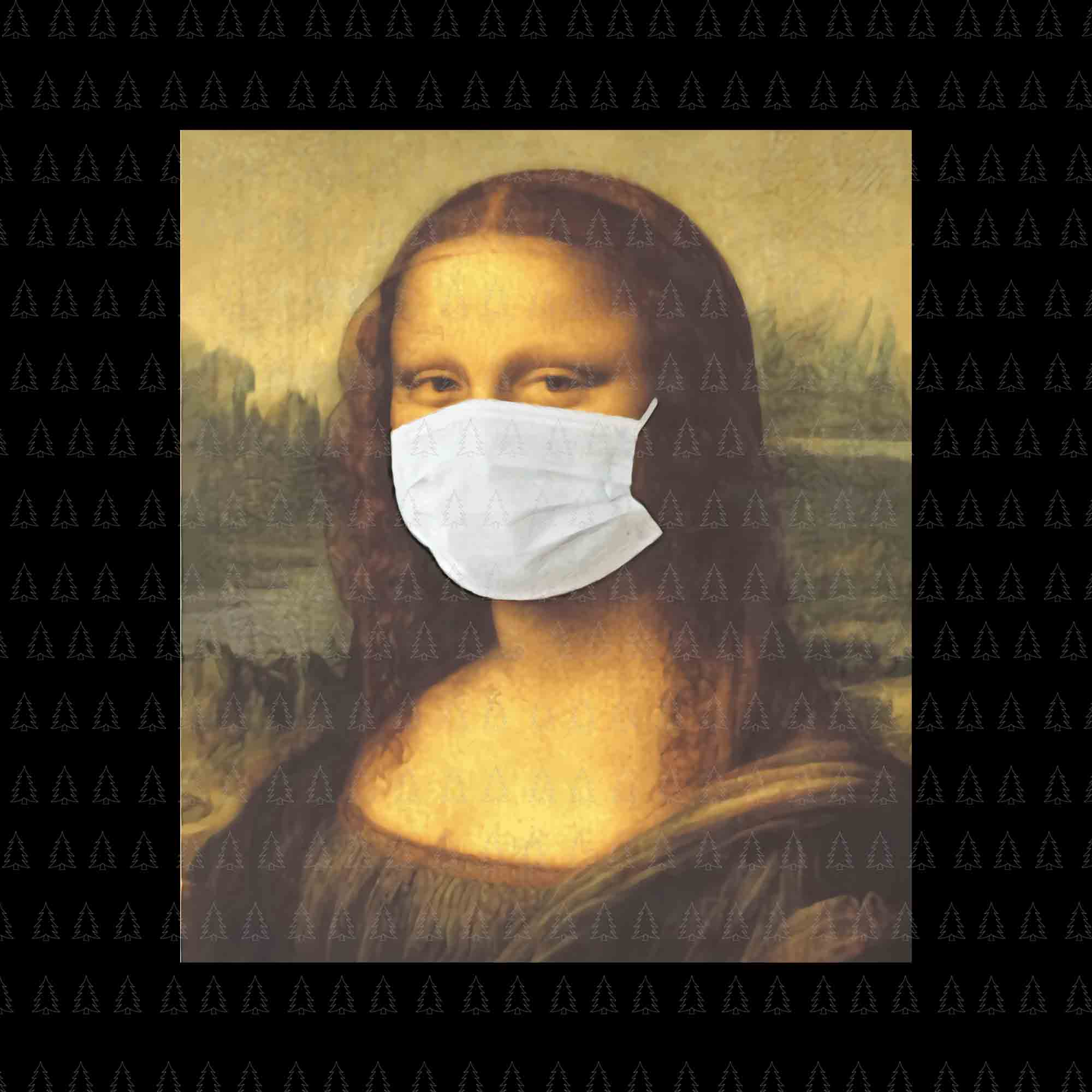 Mona lisa mask png, mona lisa mask vector, mona lisa mask jpg, mona lisa mask design tshirt, mona lisa design