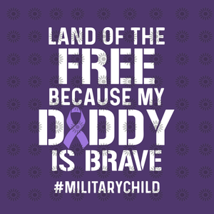 Land of the free because my daddy is brave svg, Land of the free because my daddy is brave, Land of the free because my daddy is brave  png, daddy svg, daddy design svg, png, eps, dxf