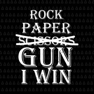 Rock paper scissors gun i win svg, rock paper scissors gun i win, rock paper scissors gun i win png