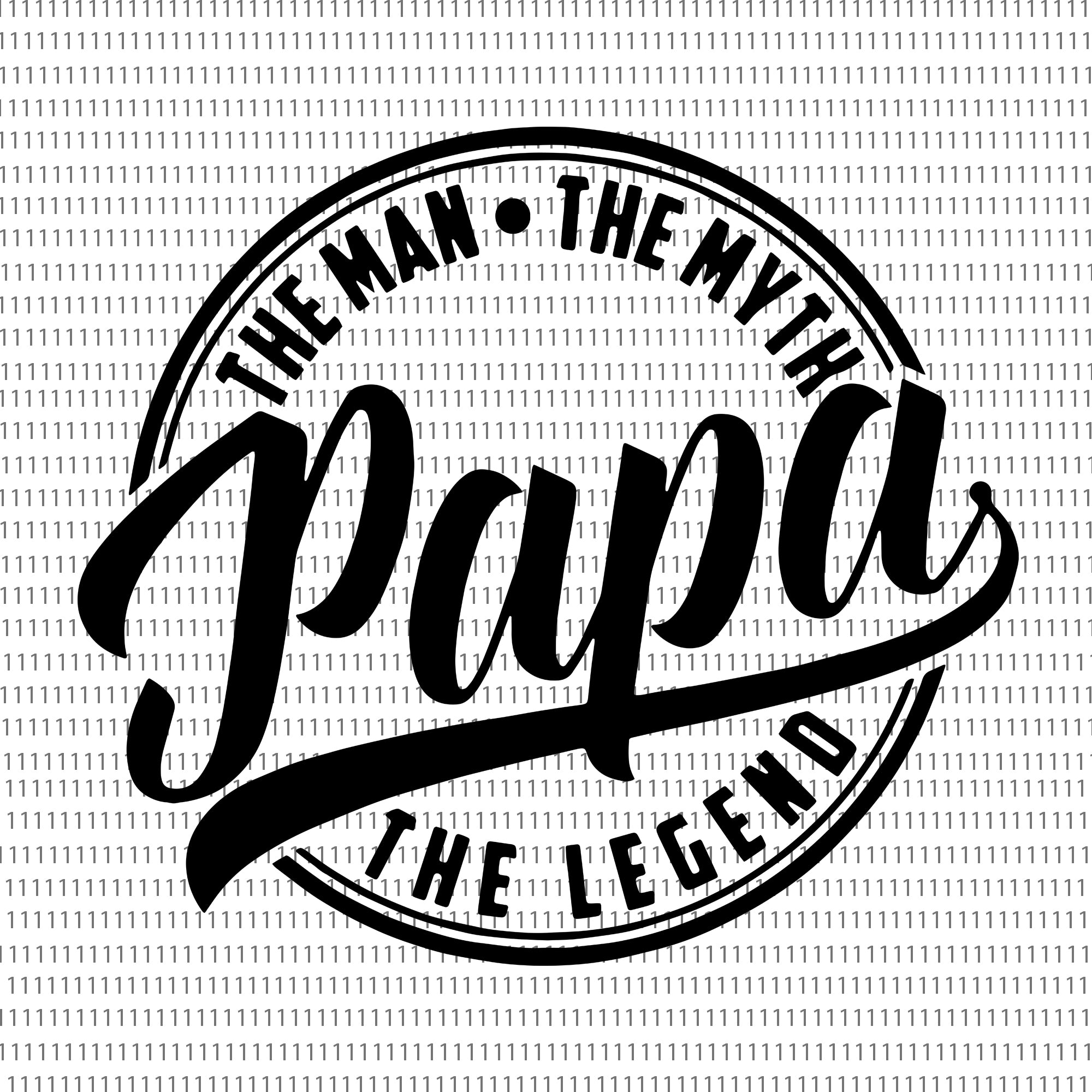 The Man The Myth Papa The Legend Svg, Dad Svg, Father Svg, Father's Day Svg, Dad Quote Svg, Dad Svg Designs, Dad Cut Files
