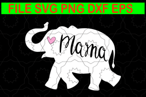 Mama elephant svg, Mama elephant png, elephant mom, elephant svg, mother's day svg. mother day, mom svg