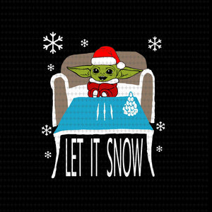 Let it snow, Baby yoda svg, baby yoda vector, baby yoda digital file, star wars svg, star wars vector, The Mandalorian the child svg