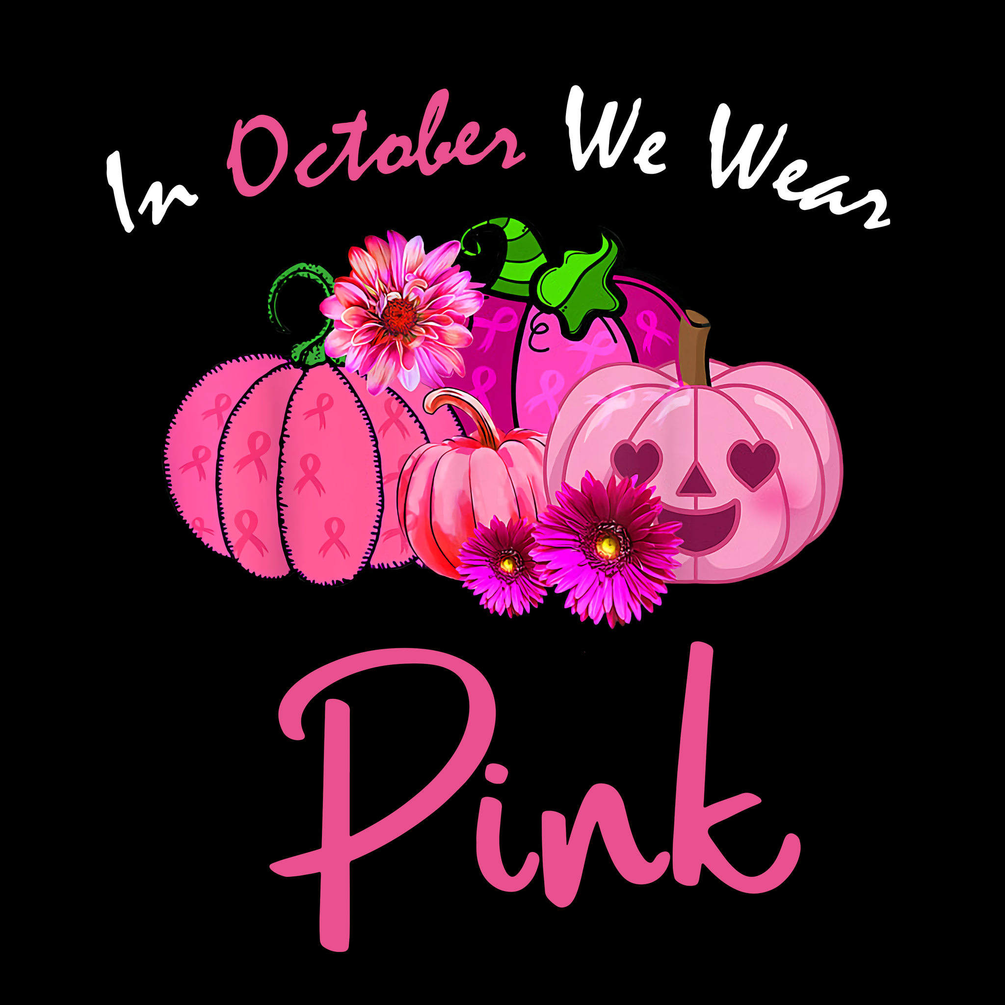 In October We Wear Pink png,In October We Wear Pink, Horror Movies Halloween PNG, Friends Horror Movie Creepy
