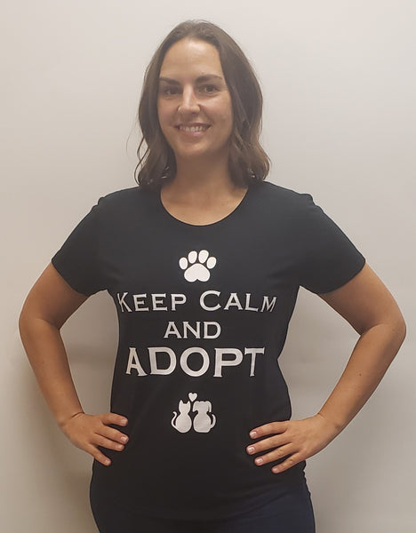 T-Shirt Supersoft Keep Calm and Adopt