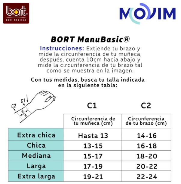 Kit Muñequera Bort + Rodillo Mini