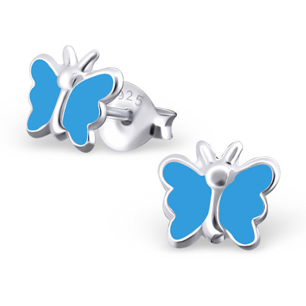 Blue Butterfly Earrings - Mya Grace - Snap Jewelry