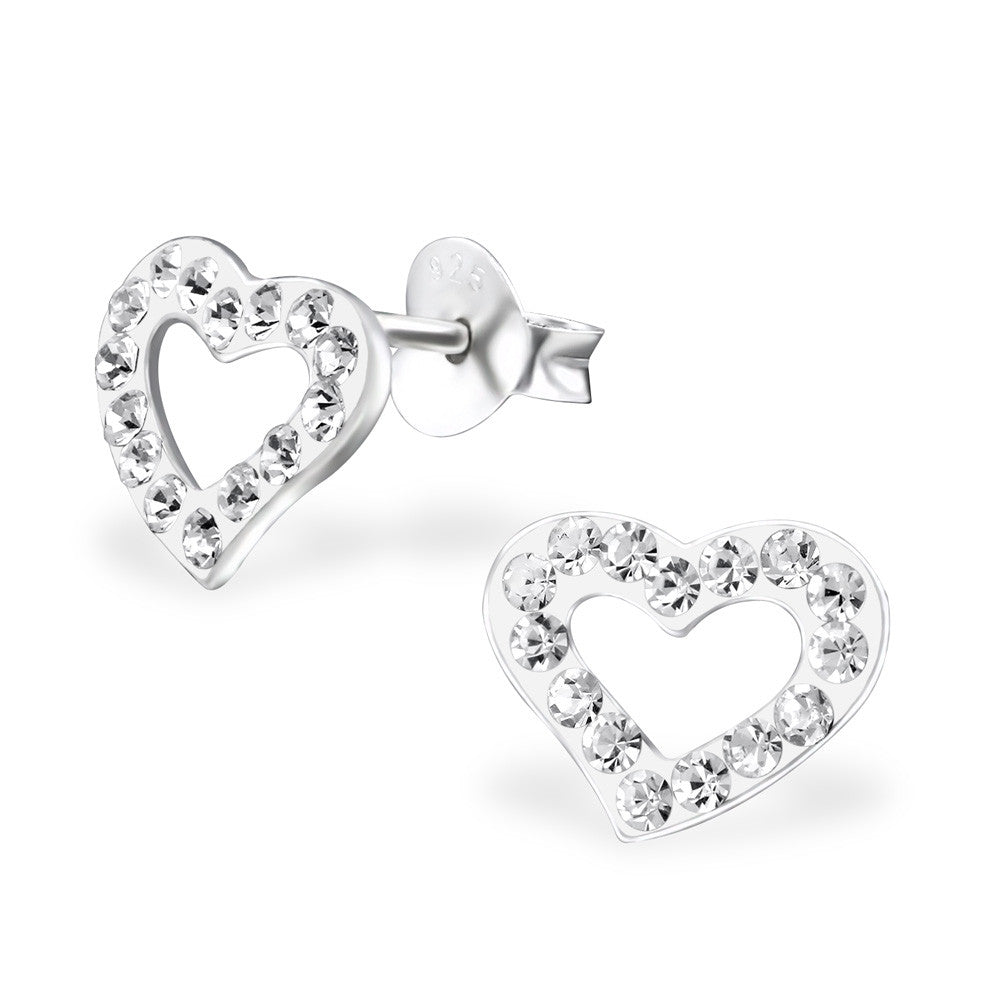 CZ Heart Earrings - Mya Grace - Snap Jewelry