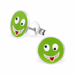 Green Emoji Earrings - Mya Grace - Snap Jewelry
