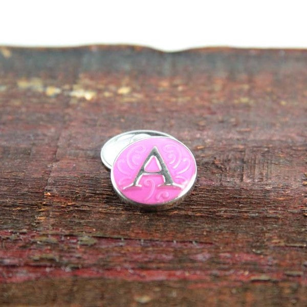 Letter A in Pink - Mya Grace - Snap Jewelry