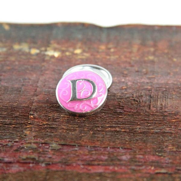 Letter D in Pink - Mya Grace - Snap Jewelry