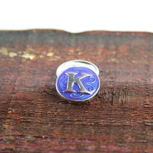 Letter K in Blue - Mya Grace - Snap Jewelry