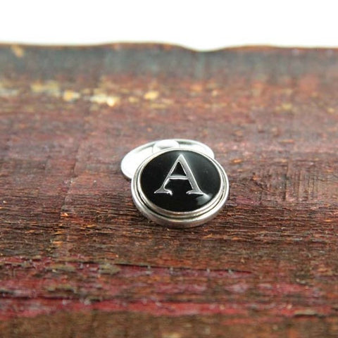 Letter A in Black & Silver - Mya Grace - Snap Jewelry