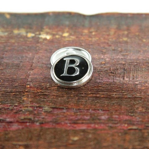 Letter B in Black & Silver - Mya Grace - Snap Jewelry